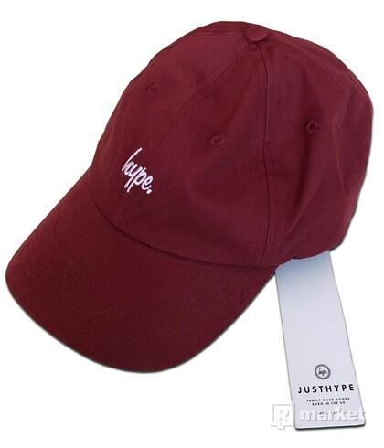 (Deadstock) Hype Script Logo Dad Cap Red
