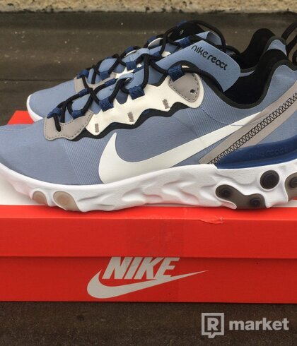 Nike React Element 55 Light Blue