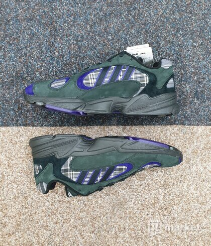 Adidas Yung-1 purple plaid