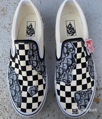Vans slip on custom