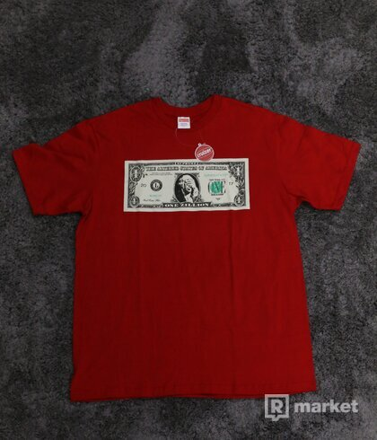 Supreme Dollar Tee Red