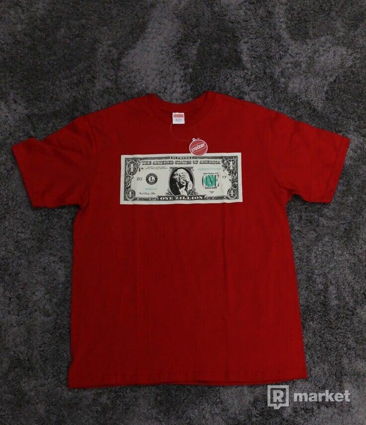 Supreme Dollar Tee Red