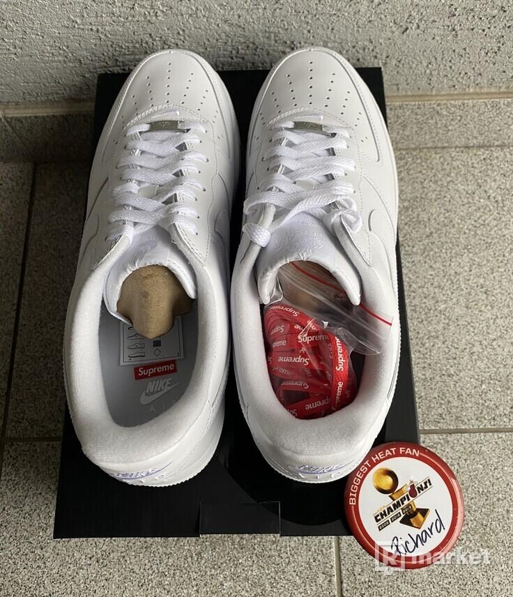 Nike Supreme air force 1 white US 12