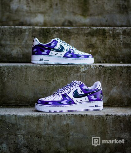Nike AF1 Low Purple cartoon