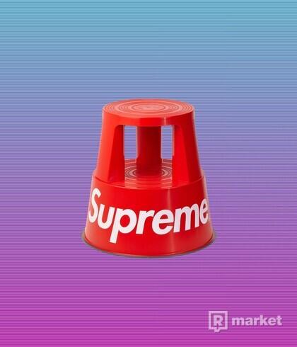 "SUPREME WEDO STEP STOOL ""RED"""