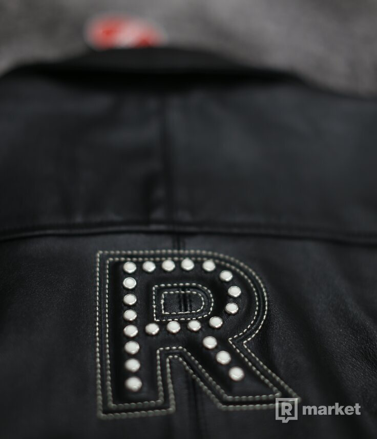 Supreme Studded Arc Logo Leather Jacket Black
