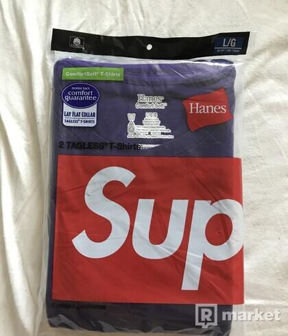 Purple Supreme tee hanes Violet