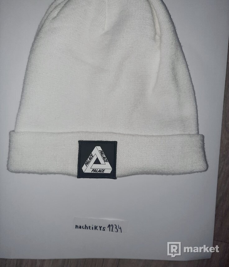 Palace Patch Beanie White