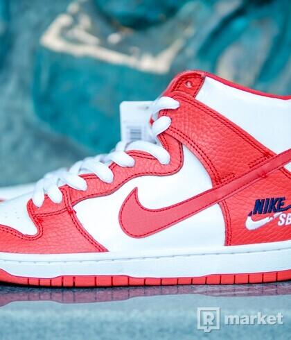 Nike SB Dunk High Future Court Red Sample 2017