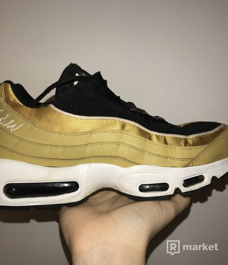 Nike Air Max 95 Satin Gold with NSW Embroidery