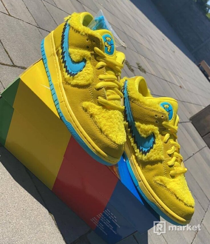 SB DUNK LOW PRO X GRATEFUL DEAD OPTI YELLOW