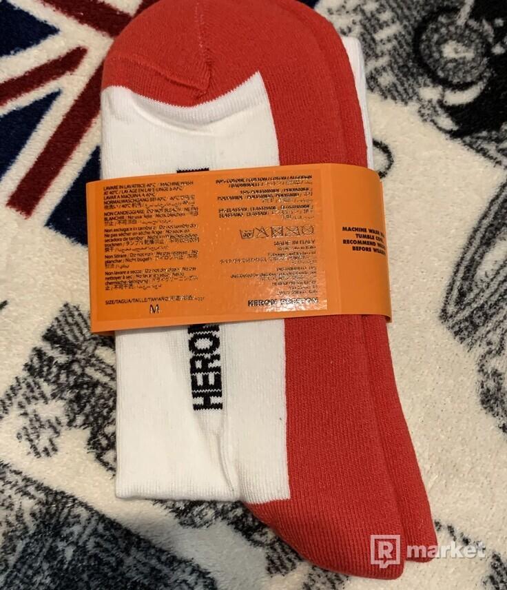 HERON PRESTON CTNMB LONG SOCKS RED-ORANGE