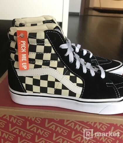 Vans SK8 Hi Lite checkboard