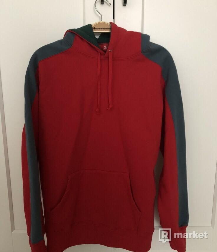 Supreme Paneled Hooded Sweatshirt Red - L