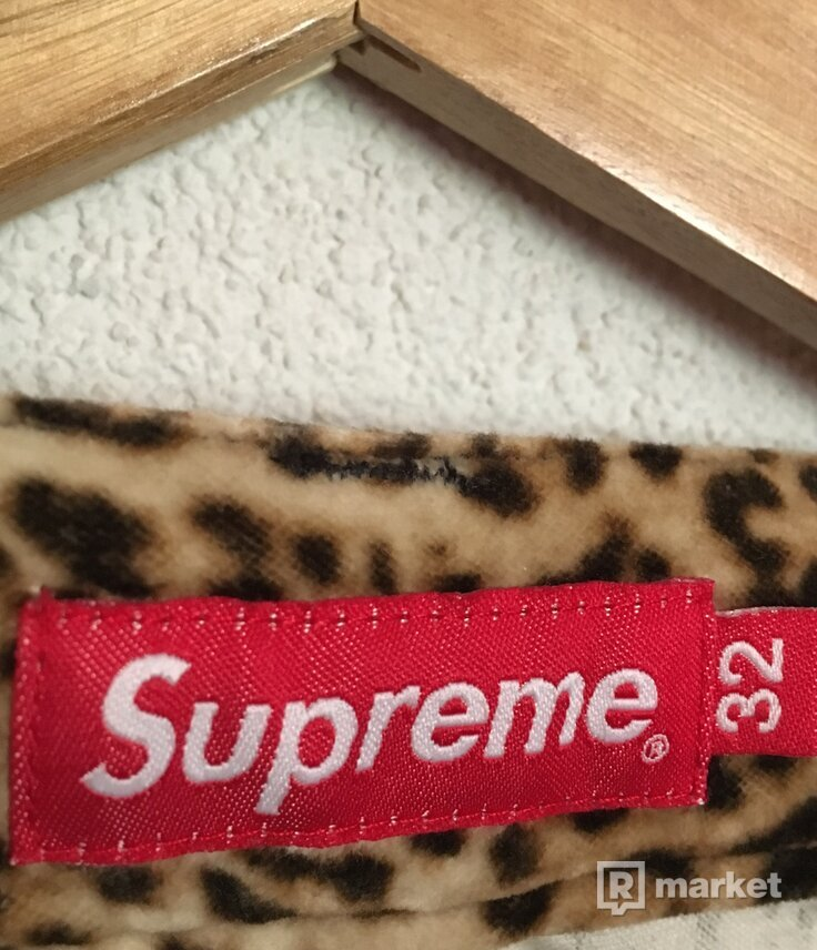 Supreme Velvet Flight Leopard pants