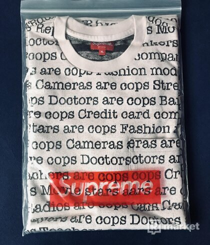 supreme cops jacquard pocket tee