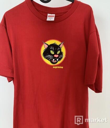 Supreme black cat tee