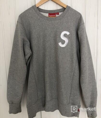 Supreme S logo crewneck
