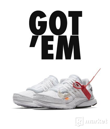Off-White x Nike Air Presto White 42.5