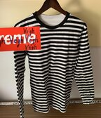 A Bathing Ape Striped Longsleeved Tee