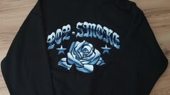 Pop smoke blue rose mikina