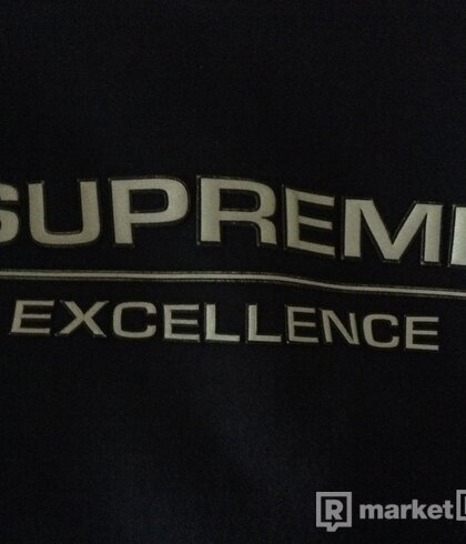 Supreme Reflective Excellence Hooded Sweatshirt Navy