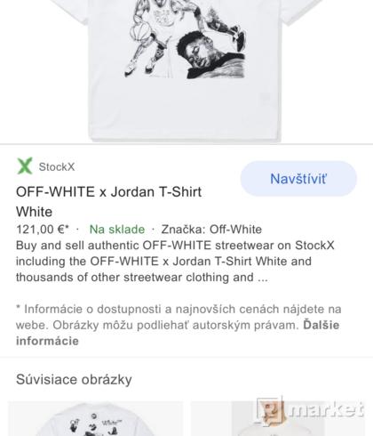 Nike jordan x off white tee