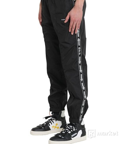 OFF-WHITE NYLON TAPED TRACK PANT