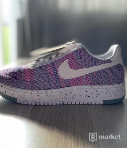 Nike W Air Force 1 Crater Flyknit Fuchsia Glow/White-Pink Blast