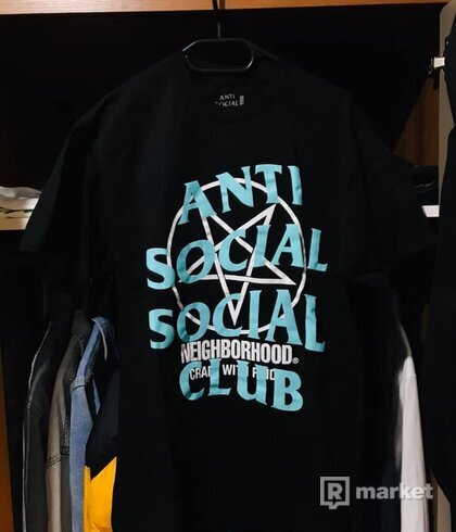 ANTI SOCIAL SOCIAL CLUB x NEIGHBORHOOD pentagram tee black
