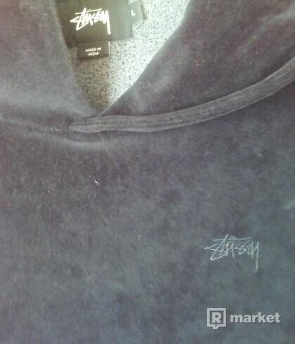 Stussy velour hoodie L