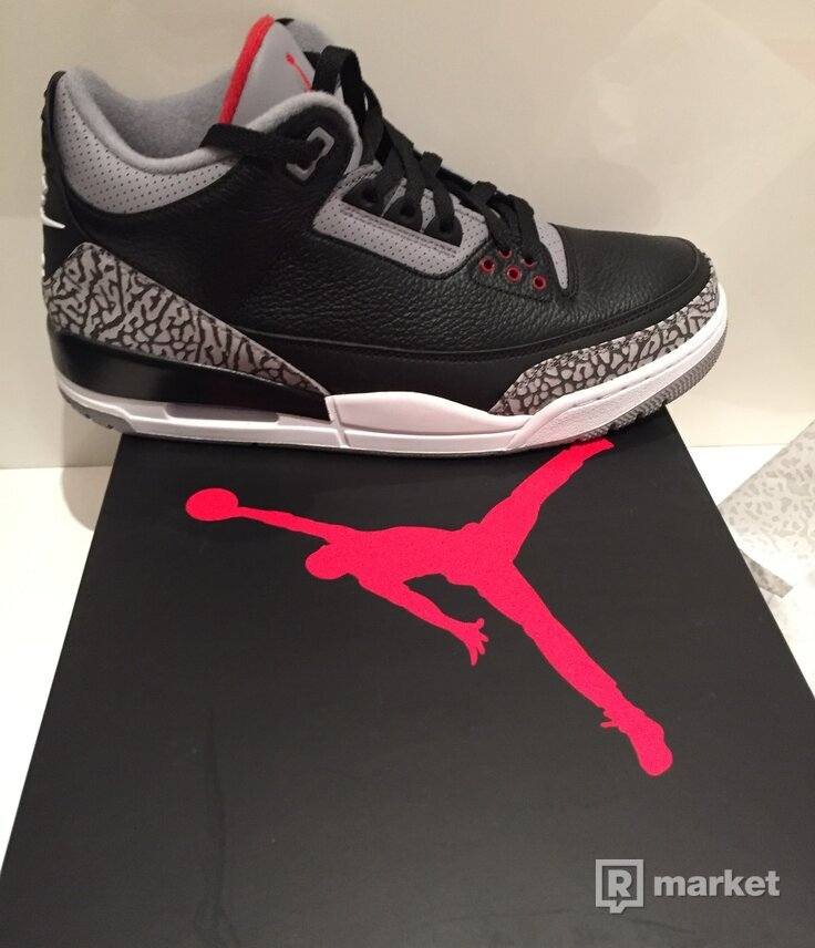 AIR JORDAN 3 RETRO OG BLACK/ FIRE RED-CEMENT GREY
