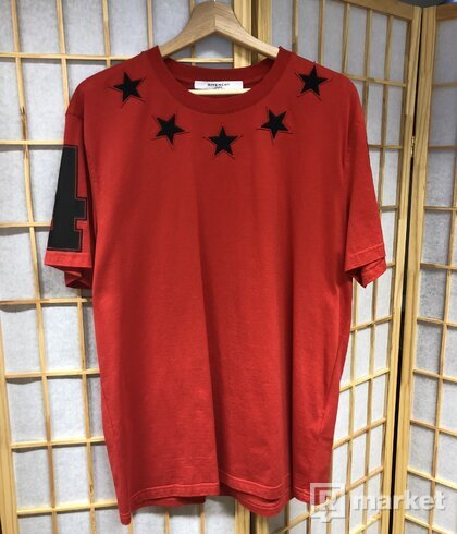 Givenchy Star a Numbers Jersey T-shirt