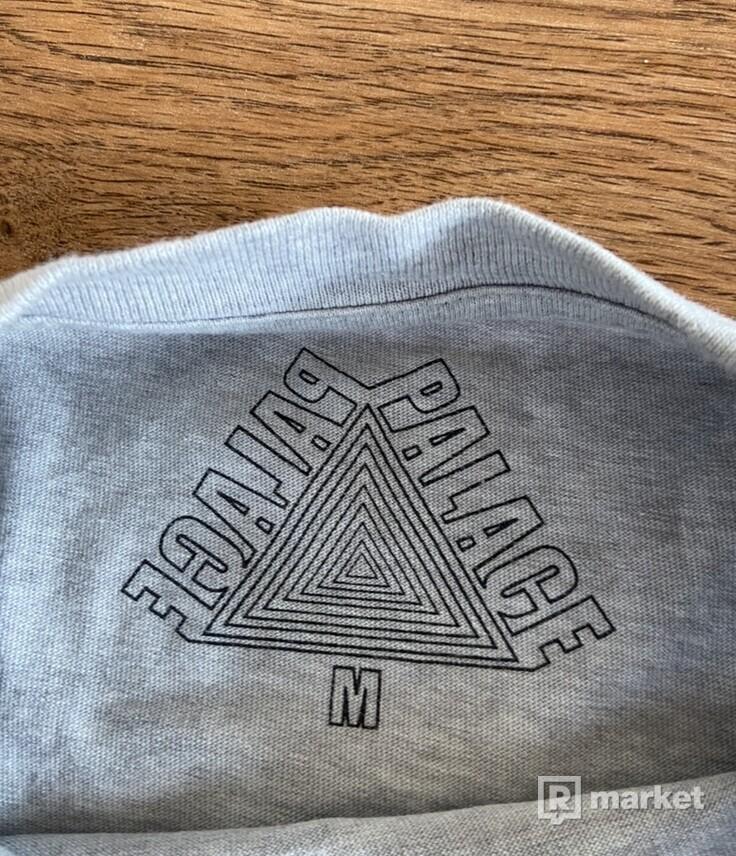Palace U Figure T-Shirt Grey Marl