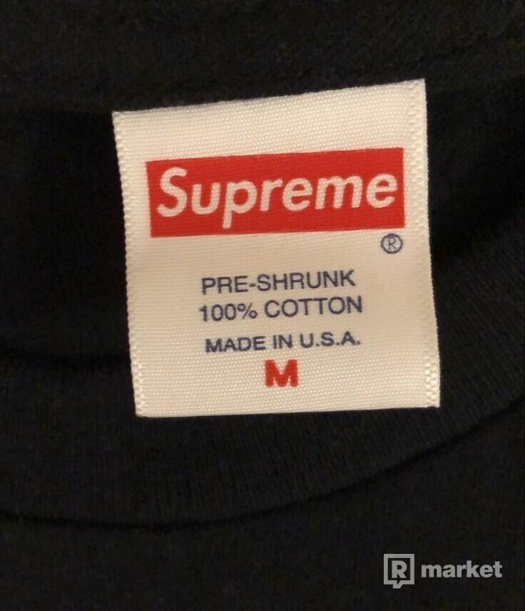 Supreme KAWS Chalk logo tee