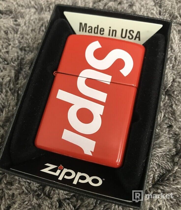 Supreme Logo Zippo® Red
