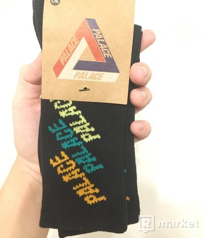 PALACE REPEAT FONT SOCK BLACK L/XL