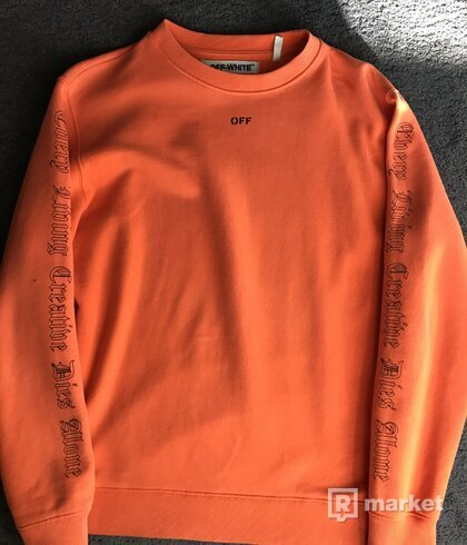 Vlone x off white crewneck orange