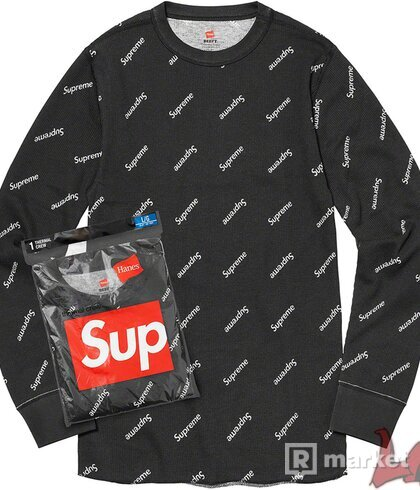 Supreme/Hanes Thermal Crew (Len vrch)