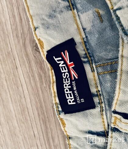 Represent CLO. Acid Wash Jeans
