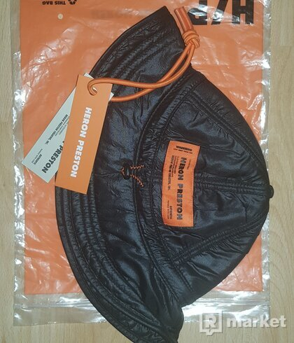 Heron Preston black ghost print fisherman hat