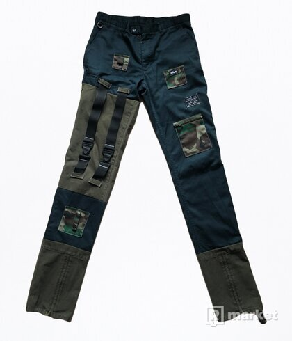 Military Strap Gonoe Trousers