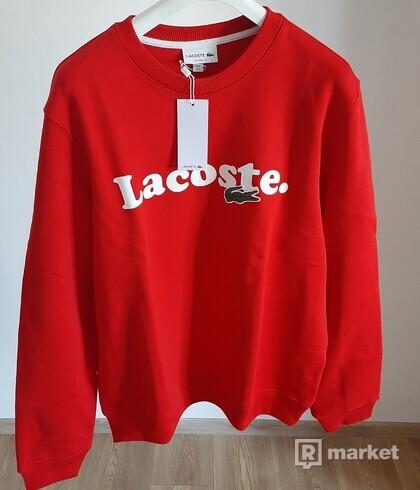 Lacoste mikina, červená, 1390 Kč