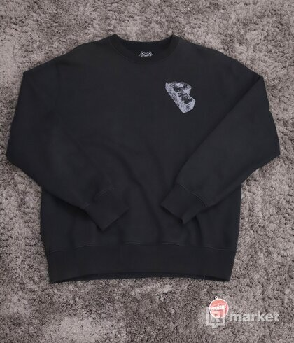 Palace Stone Crewneck Black