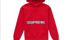 Supreme blockbuster hooded sweatshirt
