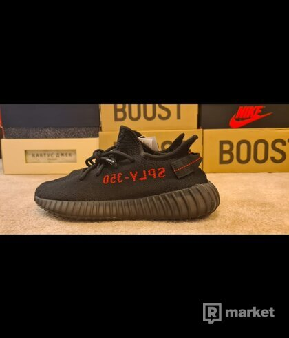 Adidas yeezy boost 350v2 black red