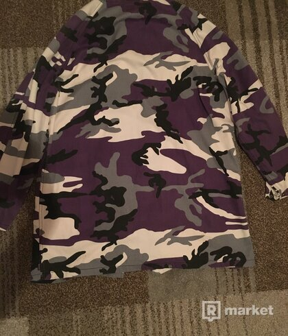 Supreme Purple Camo Parka
