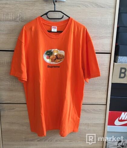 Supreme dinner tee orange