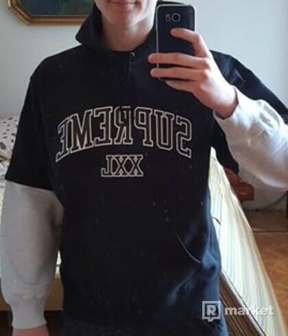 Supreme XXL hooded sweatshirt black