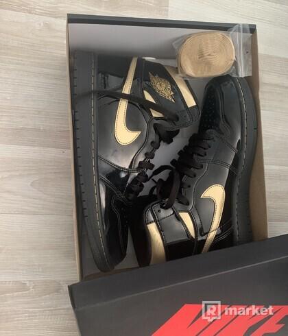 Air Jordan 1 metallic gold us10